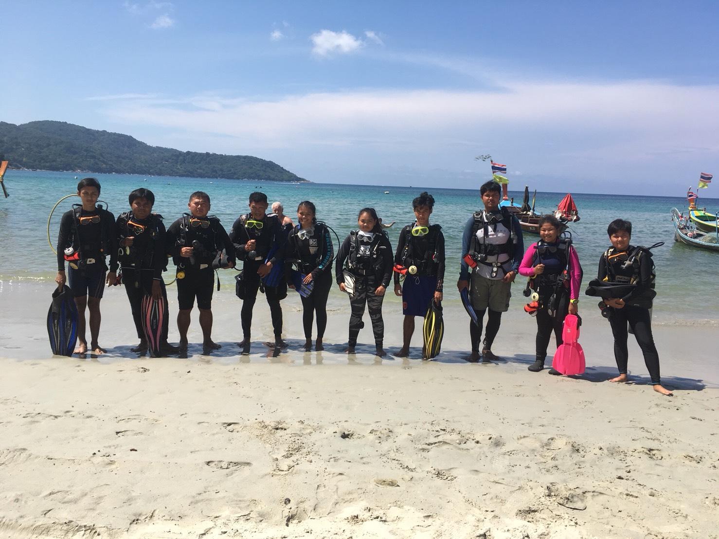 โครงการฝึกดำน้ำ นักศึกษามหาวิทยาลัยราชภัฎภูเก็ต