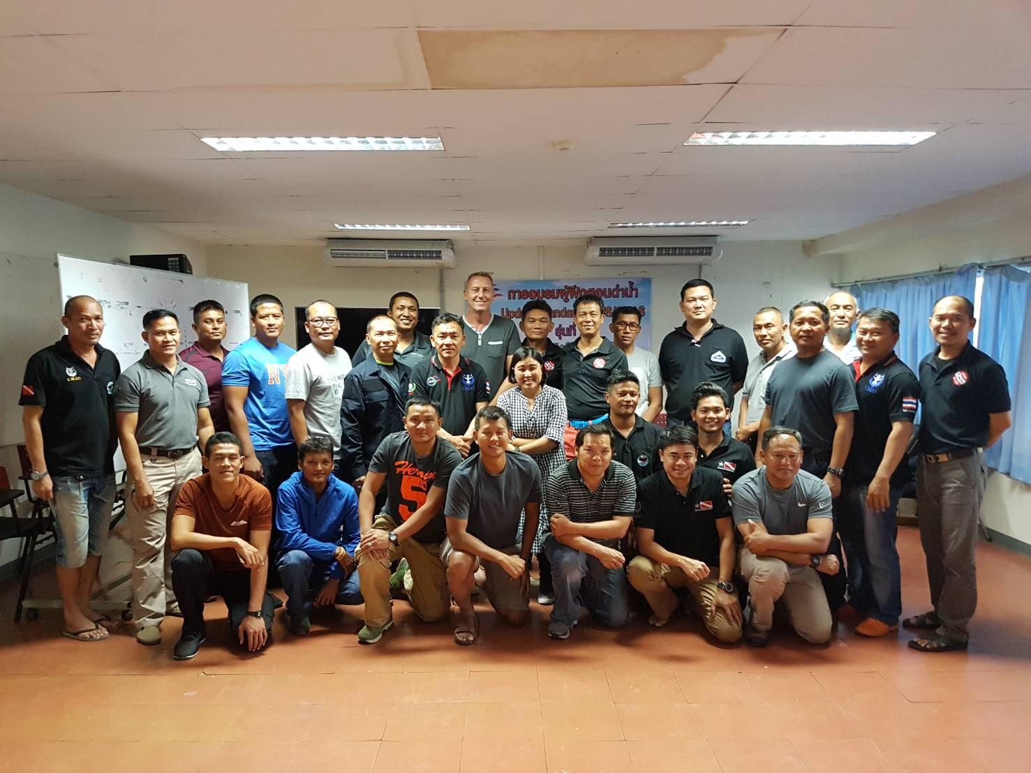 การอบรมผู้ฝึกสอนดำน้ำ Update Standard ATUS-CMAS รุ่นที่ 2  ณ ศูนย์กีฬาทางน้ำมหาวิทยาลัยธรรมศาสตร์รังสิต ระหว่างวันที่ 30-1 พฤศจิกายน 2560